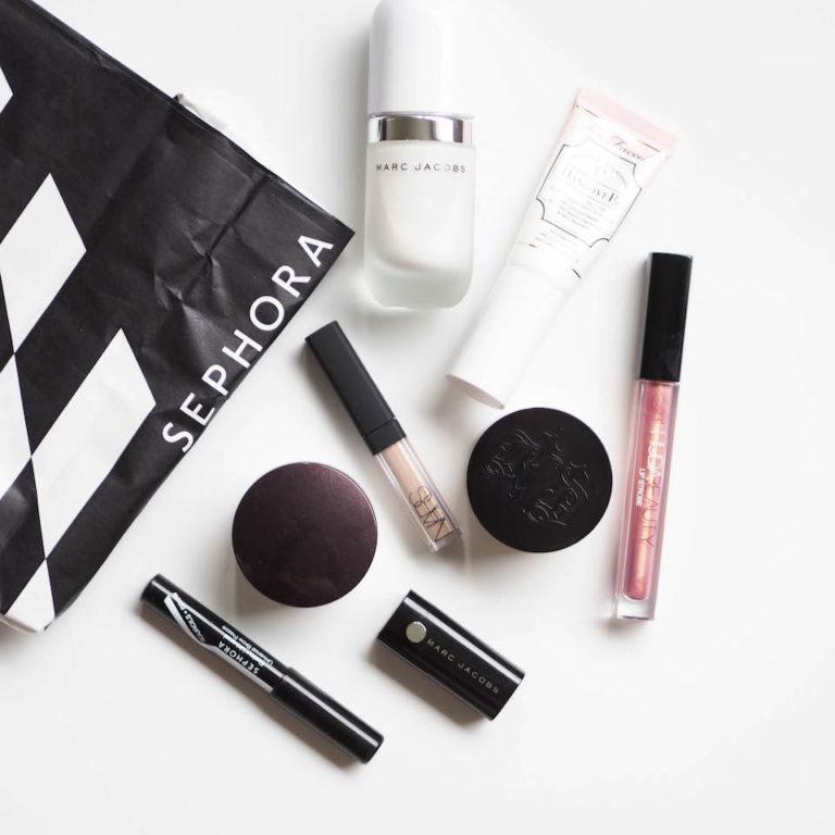 Sephora + kauneusbloggaajat = turmio eli reissun meikkiostokset